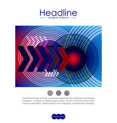 cover design template with radio wave circles and vector image