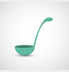 Isolated ladle on white background vector