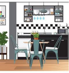 Modern kitchen vector