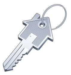 Real estate house key vector