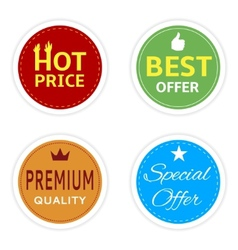 Shopping stickers vector