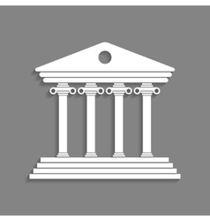 White greek colonnade isolated on dark grey vector