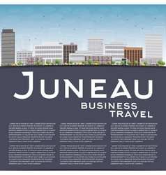 Juneau alaska skyline with grey building vector