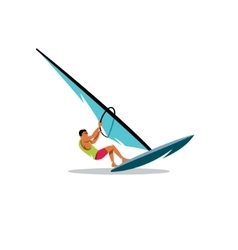 Windsurfing sign vector