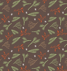 Seamless botanical winter wallpaper vector