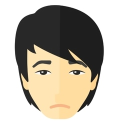 Young depressed man vector image