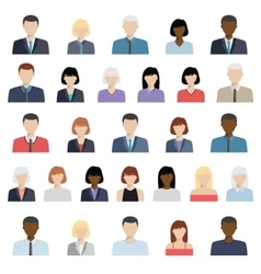 Set of business people icons vector
