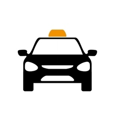 Taxi car icon public service design vector