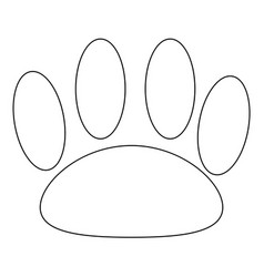 Animal footprint the black color icon vector