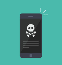 broken smartphone malware notification on vector image vector image