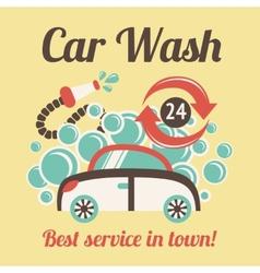 Car wash poster vector