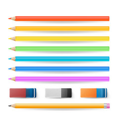 colored pencils isolated set realistic vector image vector image