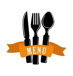 cutlery and restaurant icon design vector image