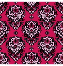 Damask Flower seamless pattern vector image vector image