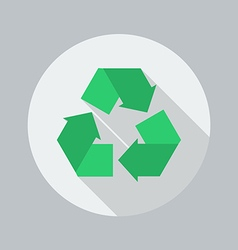 Eco flat icon recycle vector