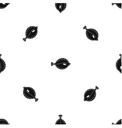 Flounder pattern seamless black vector