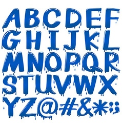 Font design for alphabets and signs vector image vector image