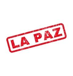 La Paz Rubber Stamp vector image