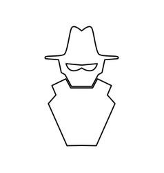 malware spyware symbol vector image vector image