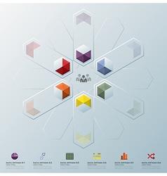 Modern fusion hexagon geometric shape business vector