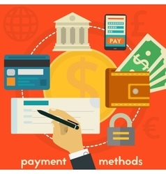 Payment Methods Concept vector image