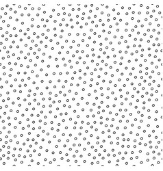 seamless simple pattern with black circles vector image vector image
