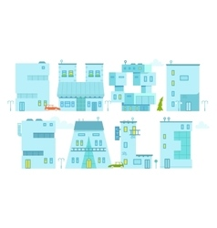Set architecture building symbol letter-house vector