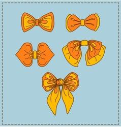 Set of bow ties vector