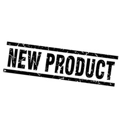 Square grunge black new product stamp vector