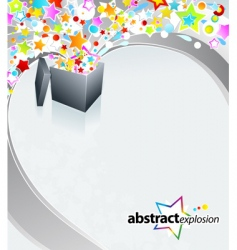 surprise box design vector image