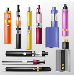 vapor vaping device and modern vaporizer e vector image