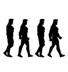 Walking man animation sprite vector