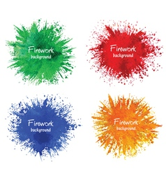 Watercolor firework splatter vector image
