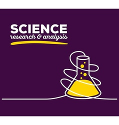 Yellow color flask with white wire and te vector