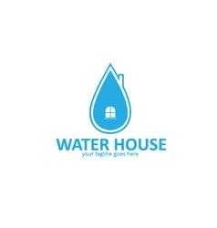 Water house logo vector