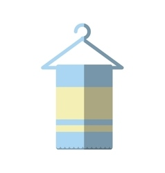 Towel spa isolated icon vector