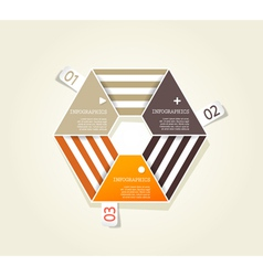 Three colored papers vector