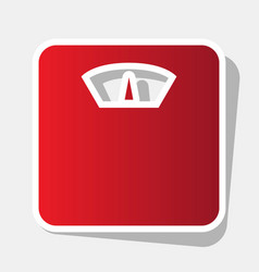 Bathroom scale sign  new year reddish icon vector