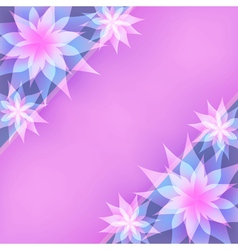 Floral abstract background invitation or greeting vector image