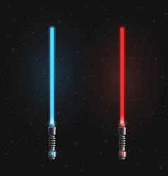 set of futuristic light swords vector image
