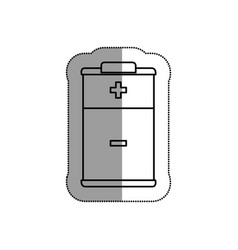 Battery level isolated icon vector