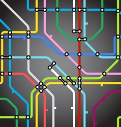 Abstract background of metro scheme vector