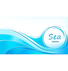 Blue background with waves vector