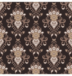 Damask flower vintage seamless pattern vector