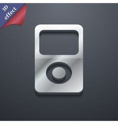 Portable musical player icon symbol 3d style vector
