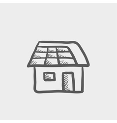 House sketch icon vector