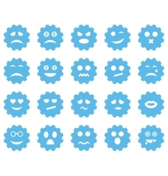 Gear emotion icons vector