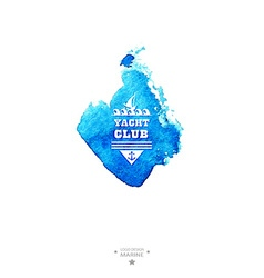Yacht club logowatercolor vector