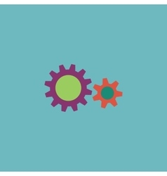 Two gears icon vector