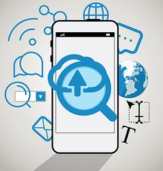 Modern smartphone interface vector